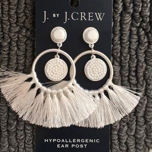 J crew white earrings